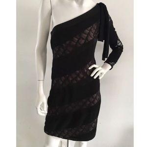 DIANE VON FURSTENBERG One Shoulder Lace Dress